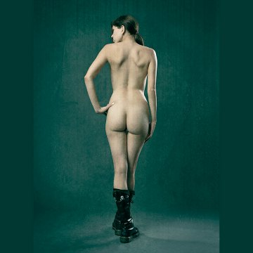 Combat boots fine art nude photography exhibit