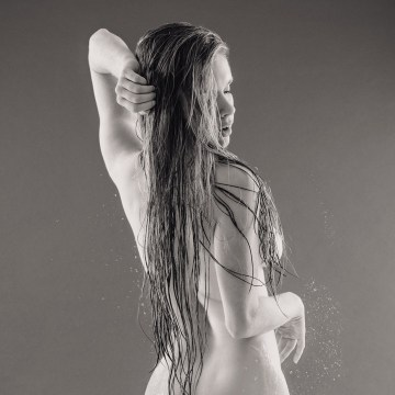 Black and white fine art nude photography