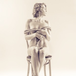 Art Nude Photography Exhibit: Rope and Chair