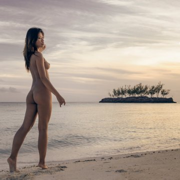 Fine art nude figure landscape photography