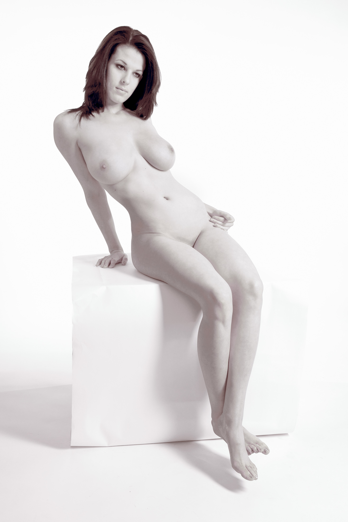 Fine art nude photography pin-up girl