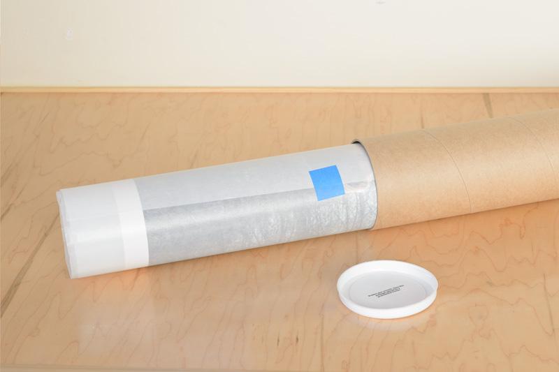 Artwork in heavy-duty tube