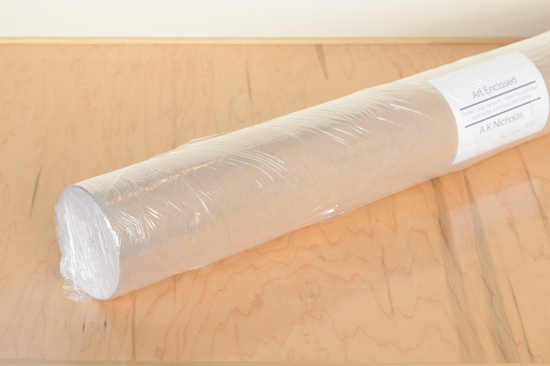 Artwork mailing tube with weather barrier