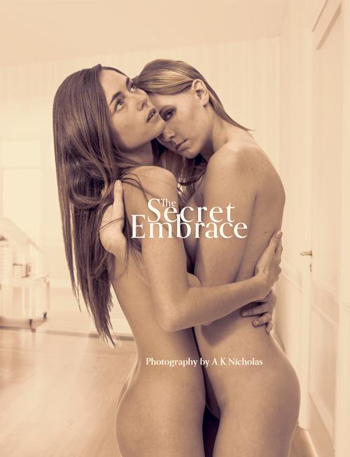 Fine art nude book: The Secret Embrace art nude photobook. Hardcover