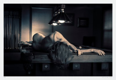 """Wicked Game"" FIne art nude woman billiards table limited edition photo"