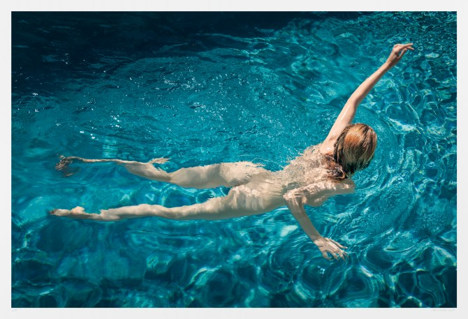 Artwork nude swimmer. Ava's World. Limited edition fine art photograph