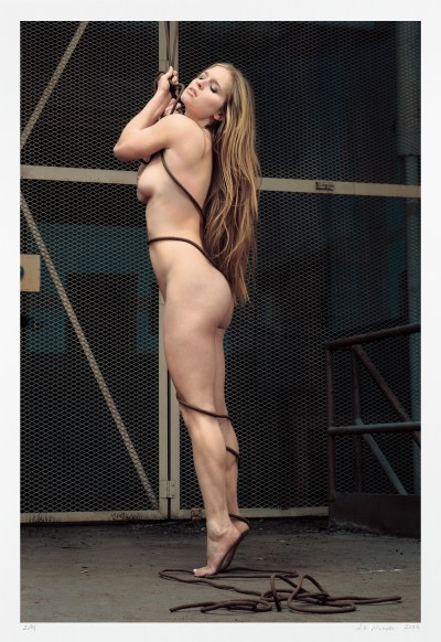 Urban exploration, art nude, classic pinup. Limited edition art photograph