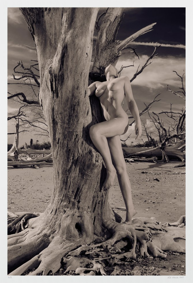 "Art nude figure study ""Timeless Beach"" limited edition archival photograph"