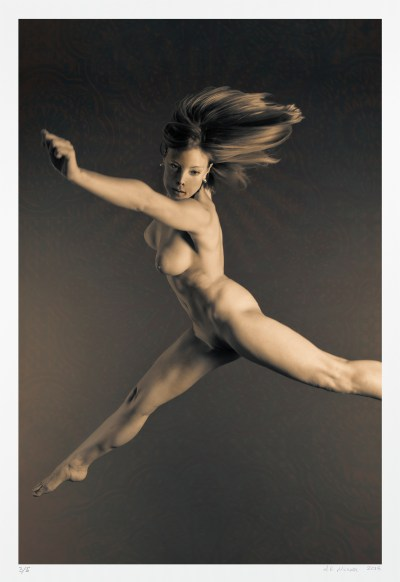 "Athletic nude ""Empyrean"" original limited edition of five photographs"
