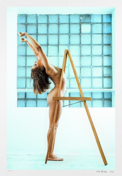 "limited edition signed art nude ""The Artist"" original photography for sale."