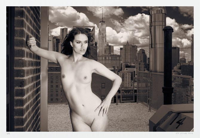 Skyline nude New York City art photography. Signed original limited edition