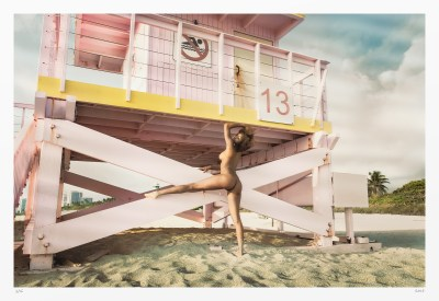 "Nude photography print ""Lifeguard Lucky Number 13"""