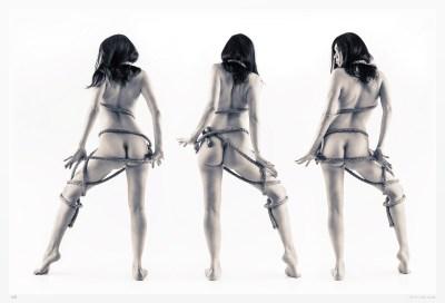"Monochrome art nudes - limited edition original photography ""Trimpedio"""