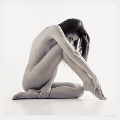 Black and white nude dancer photograph. Limited edition original art