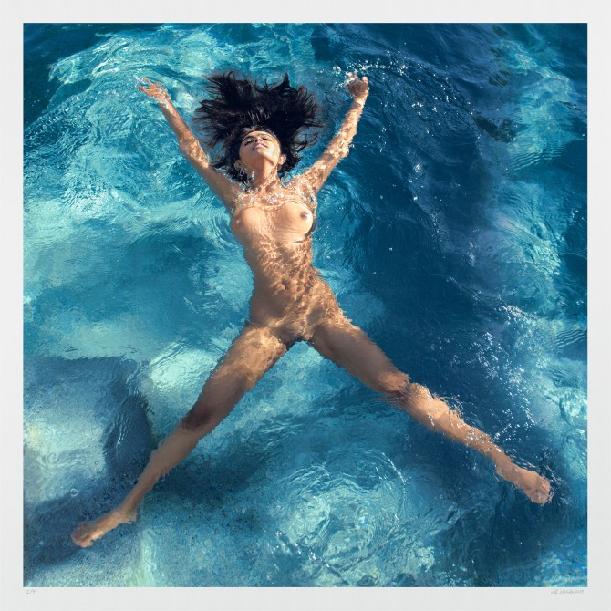"Large colorful nude artwork ""Mia Flying"" Buy limited edition photography"