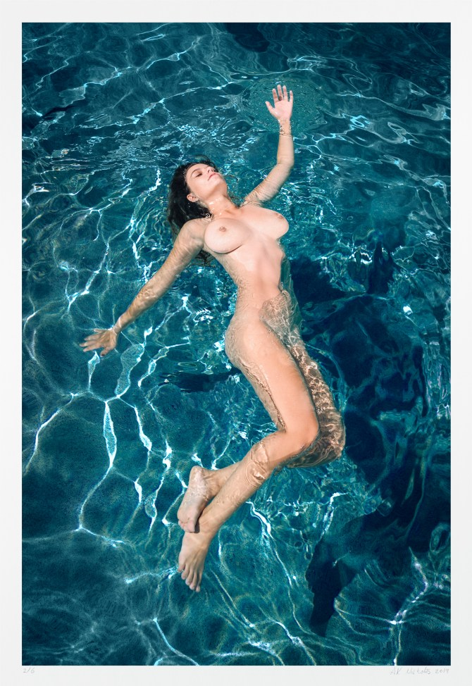 "Contemporary figure photography ""Risa Floating"" art nude limited edition"
