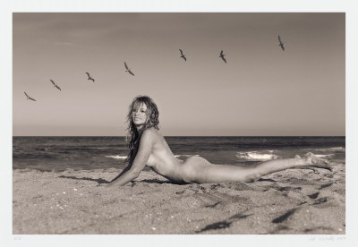 "Seascape nude art photograph ""Taylor and Birds"" limited edition, signed"