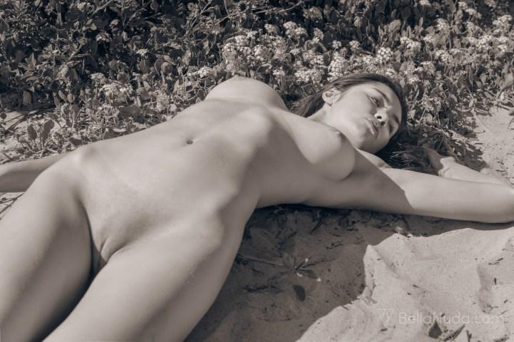 Black and white erotic art photograph