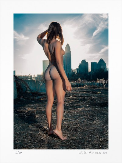"Contemporary art nude ""Charlotte Skyline"" limited edition photograph -sold"