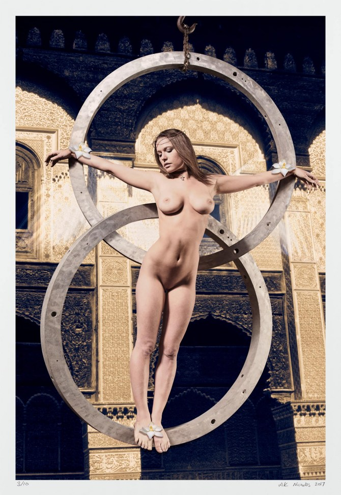 "Fine art erotic photography, ""Allegory of the Arch"" limited edition nude"