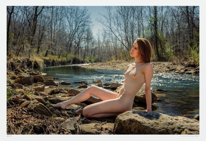 Nude in the landscape, original limited edition archival photograph