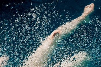 Limited edition photography art nude water swimmer