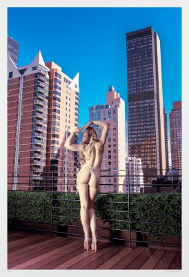 Fine art nude photography New York City skyscrapers