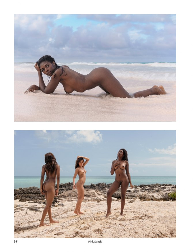 Pink Sands art nude photobook page preview