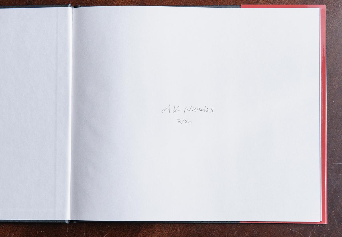 portfolio album autographed end paper