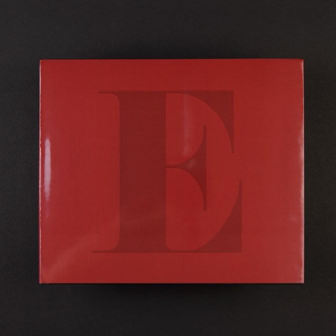 """Erotic art portfolio album """"The Erotiche Red E"""" Limited to twenty copies."""