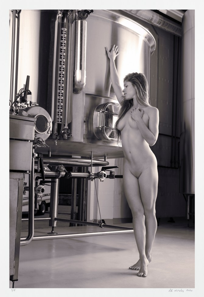"Contemporary black and white photography ""Brew Forward"" limited edition art"