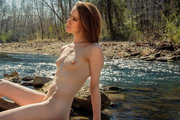 Nude in nature. Fine art photography