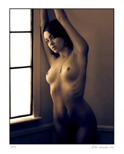 sepia-toned nude art photograph