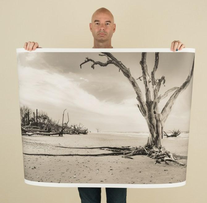sepia-toned landscape nude photography original fine art limited edition