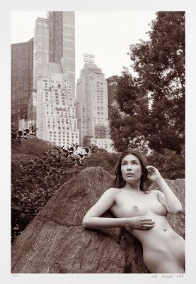 Limited edition fine art photography nude erotic NYC Central Park