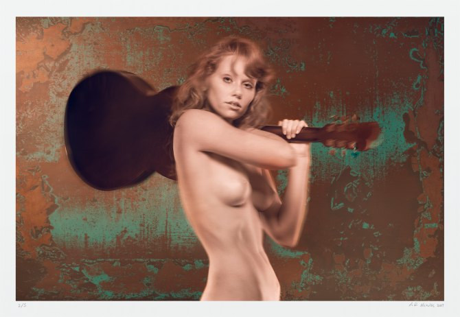 Fine art nude photography archival limited edition guitar