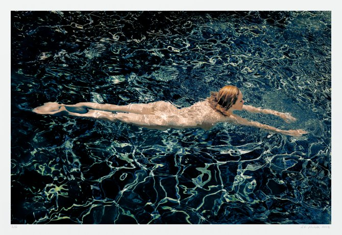 Fine art nude photography - swimmer by A K Nicholas