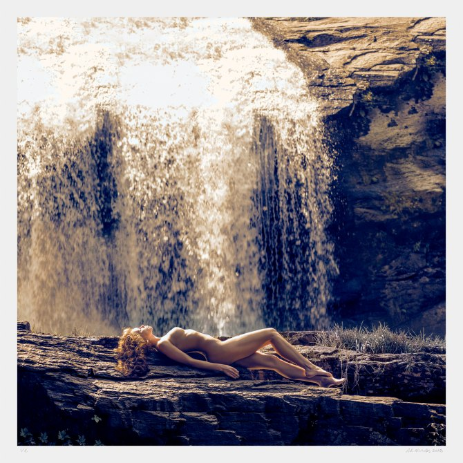 Art photograph of a nude female in nature. Limited edition fine art photography.