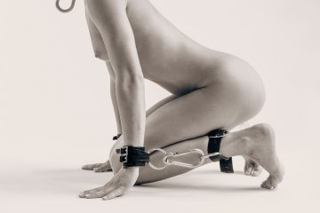 Bondage art. Original fine art nude limited edition photograph, black and white, buy direct from emerging artist