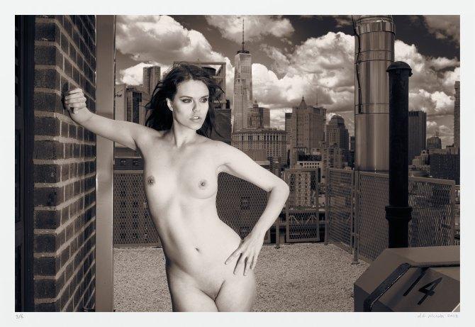 Skyline nude New York City art photography