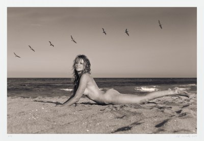 "Seascape nude art photograph ""Taylor and Birds"" limited edition"