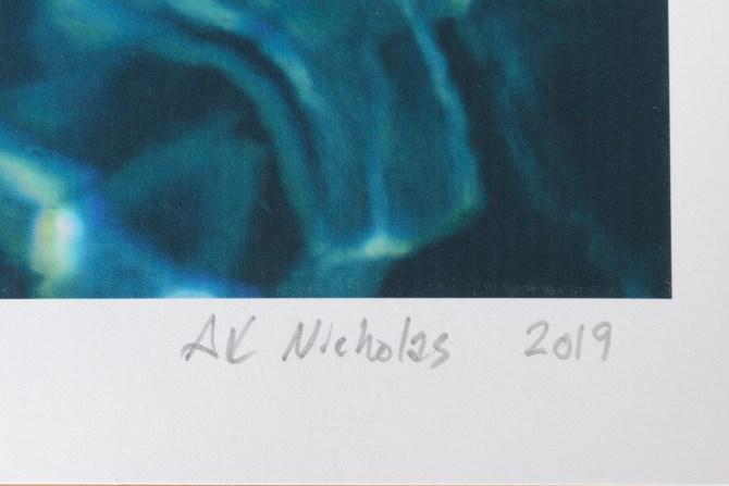 artist's signature on artwork