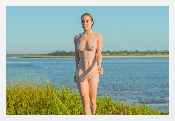 Artwork standing nude landscape - limited edition signed photograph