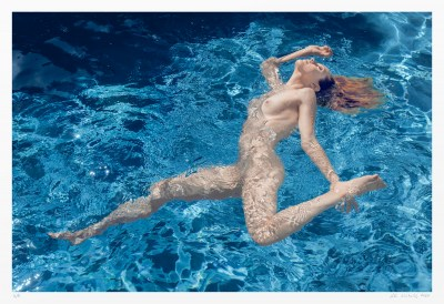 From a series of artistic nude images of swimmers. Limited edition.