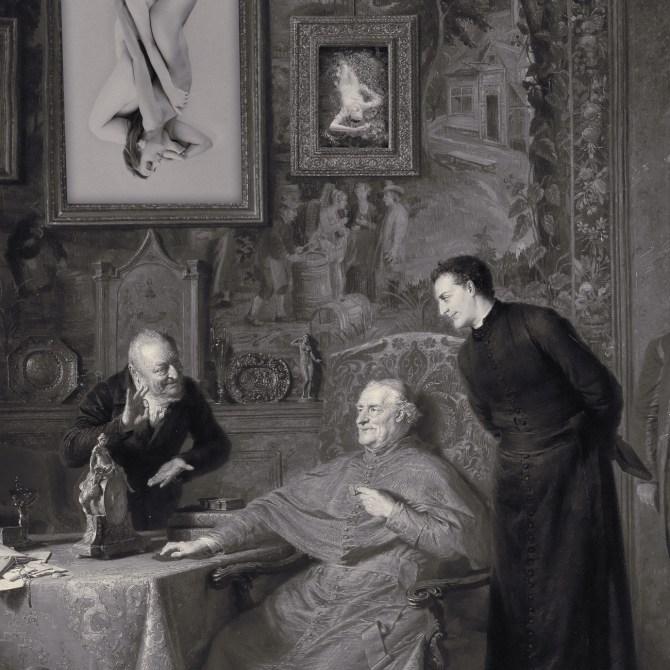 After Eduard von Grützner - A patron of the arts