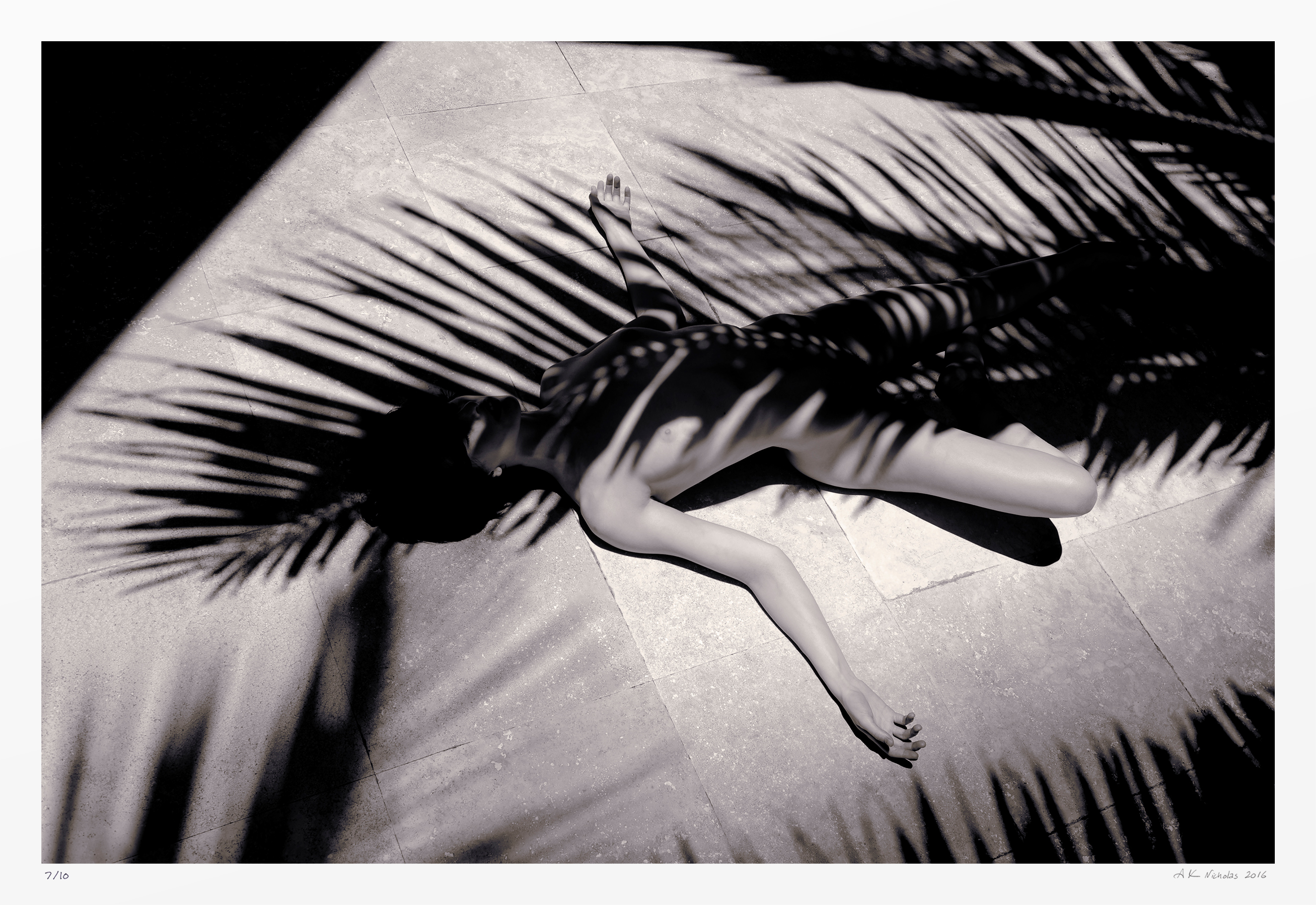 black and white body pattern nude photography. Original limited edition artwork.
