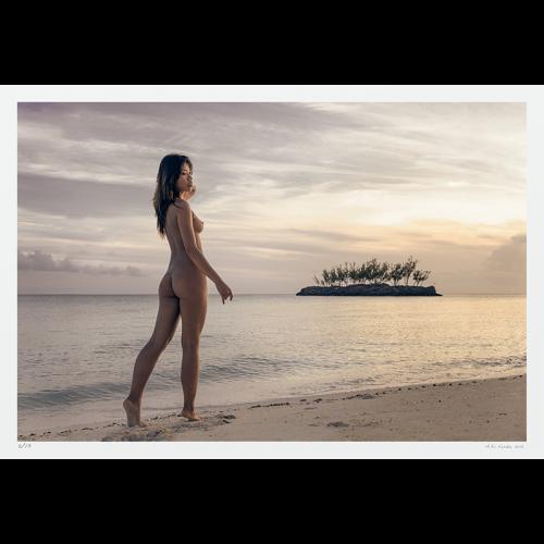 Fine Art Nude Photography - Woman, beach, island