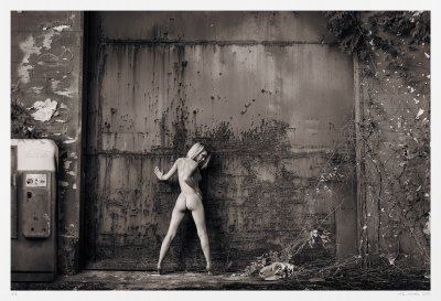 Black & white fine art nude erotic pin-up photograph