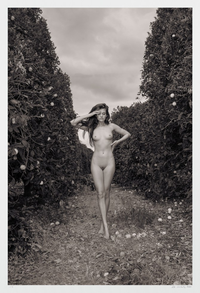 Contemporary black and white nude art photograph limited edition, signed