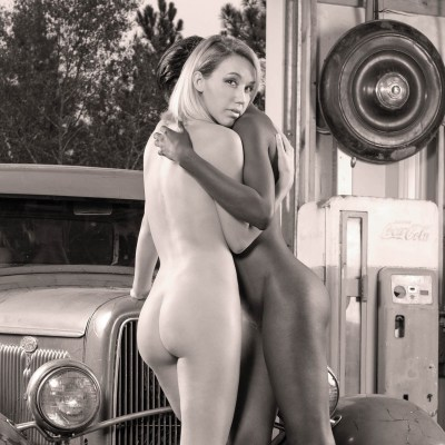 Black and white art nude photography
